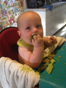 7 months: Steamed Broccoli